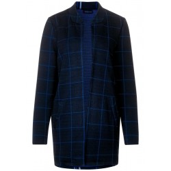 Long coat with check by Street One