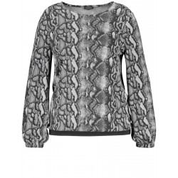 Top with a snakeskin print by Samoon