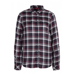 Checked shirt blouse with turn-up sleeves by s.Oliver Red Label