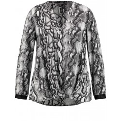 Tunic with a snakeskin print by Samoon