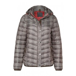 Padded jacket with checks by Street One