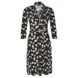 Midi dress with draping by s.Oliver Black Label