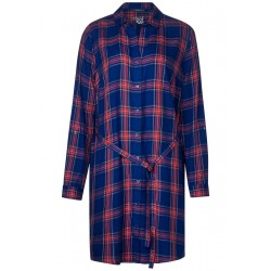 Shirt dress with plaid by Street One