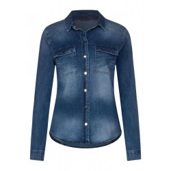 Shirt blouse in denim style by Street One