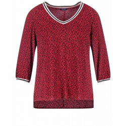 3/4-sleeve top with an animal print by Samoon