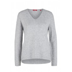 Knit jumper with a V-neckline by s.Oliver Red Label