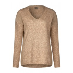 Sweater with structure mix by Street One