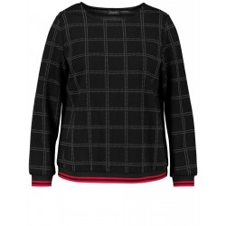 Sweatshirt with a check pattern by Samoon