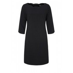 Crêpe dress with a wavy neckline by s.Oliver Black Label