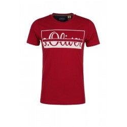 Slim: jersey top with a logo print by s.Oliver Red Label