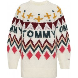 Grobstrick-Pullover im Fair Isle-Stil by Tommy Jeans