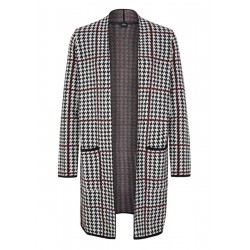 Long cardigan with a jacquard pattern by s.Oliver Black Label