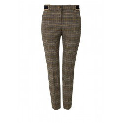 Tracksuit bottoms with a Prince of Wales check pattern by s.Oliver Red Label
