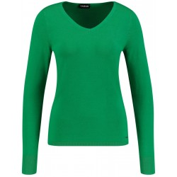 Basic-Pullover mit V-Neck by Taifun