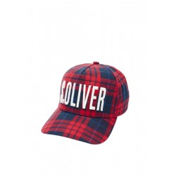 Check cap with logo stitching by s.Oliver Red Label