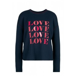 Boxy sweatshirt with artwork by s.Oliver Red Label