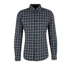 Slim: Business shirt made of flannel by s.Oliver Black Label
