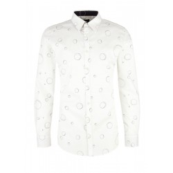 Slim: Business shirt with printed pattern by s.Oliver Black Label
