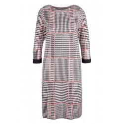 Woven dress with a houndstooth pattern by s.Oliver Red Label