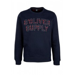 Sweatshirt with logo appliqués by s.Oliver Red Label