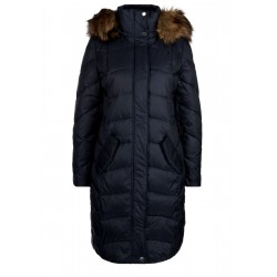 Shiny quilted coat with faux fur by s.Oliver Red Label