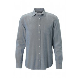 Shaped long-sleeve shirt in a high-quality cotton blend by Marc O'Polo