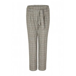 Paper bag Prince of Wales check trousers by s.Oliver Black Label