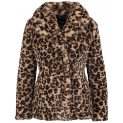 Veste en fourrure synthétiue au design animalier by Taifun
