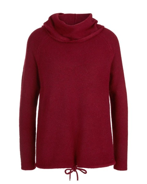 Jumper with a loose polo neck by s.Oliver Red Label