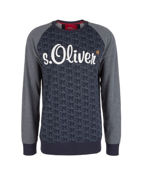 Logo sweatshirt with raglan sleeves by s.Oliver Red Label