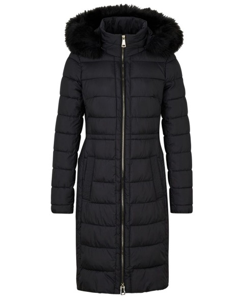Quilted coat with a faux fur trim by s.Oliver Black Label