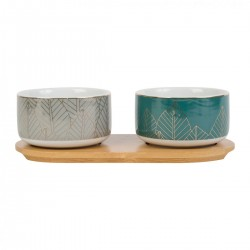 2 cereal bowls and tray by SEMA Design