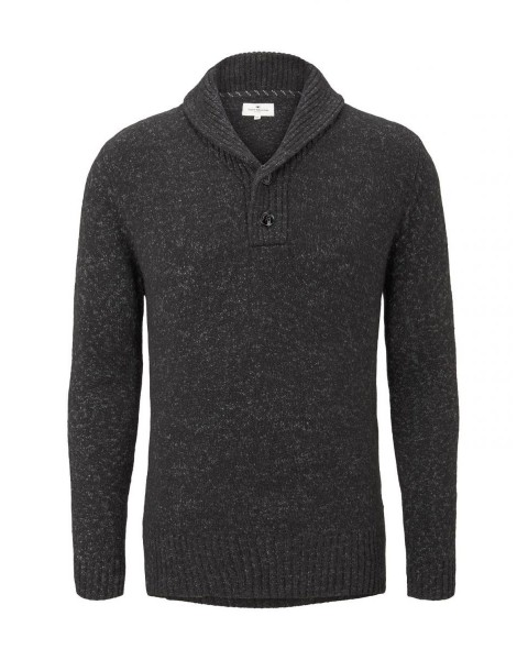 Jumper with shawl collar by Tom Tailor