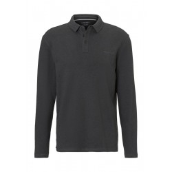 Long-sleeve polo shirt in soft touch jersey fabric by Marc O'Polo