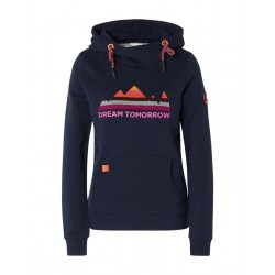 Hoody with print and logo by Tom Tailor Denim