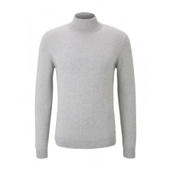 Polo neck jumper in blended look by Tom Tailor