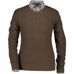 Fine knitted pullover with V-neck by State of Art