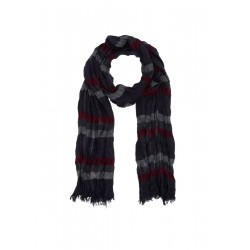 Scarf with woven stripes by s.Oliver Red Label