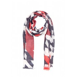 Woven scarf with a printed pattern by s.Oliver Red Label
