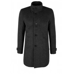 Elegant wool coat with a stand-up collar by s.Oliver Black Label