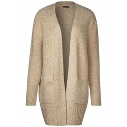 Lange Bouclé Strickjacke by Street One