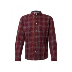Flannel shirt with button-down collar by Tom Tailor