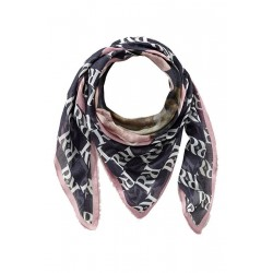 Logo scarf with floral print by Rich & Royal