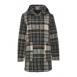 Wool coat Handa wool check by Opus