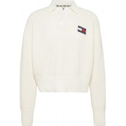Chunky knit polo collar jumper by Tommy Jeans