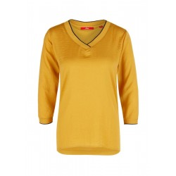 Blouse top with a V-neckline by s.Oliver Red Label