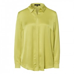 Buttoned Satin Blouse by More & More