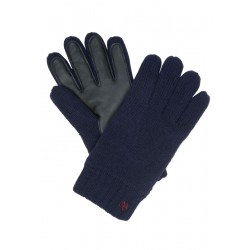 Gloves with genuine leather detailing by Marc O'Polo