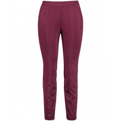Slim faux suede trousers by Samoon