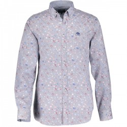 Poplin shirt with button-down collar by State of Art
